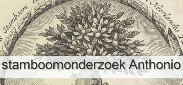 Stamboomonderzoek Anthonio