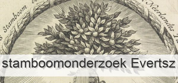 Stamboomonderzoek Evertsz