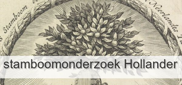 Stamboomonderzoek Hollander