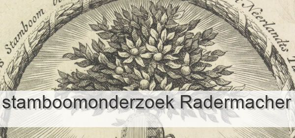 Stamboomonderzoek Radermacher