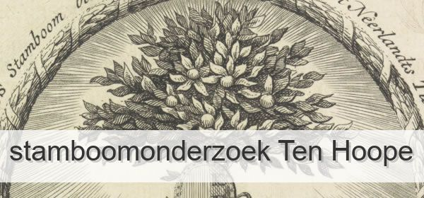 Stamboomonderzoek Ten Hoope