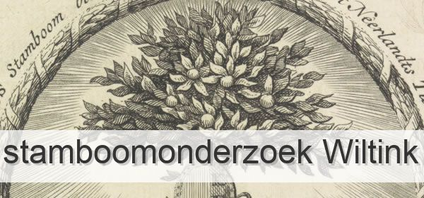 Stamboomonderzoek Wiltink
